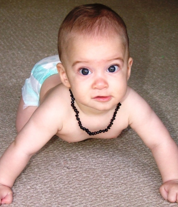 Baby Teething Necklace - Cherry