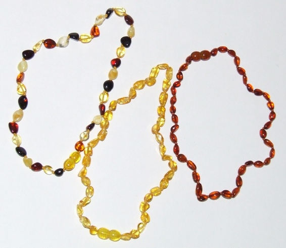 Amber Teething Necklace & Baby